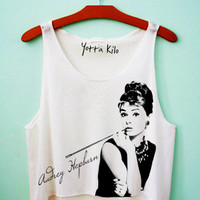 Audrey Hepburn - Breakfast At Tiffany's Crop Tank Top