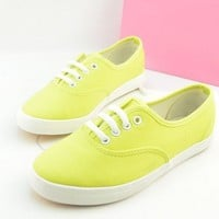 lovely yellow canvas shoes