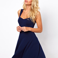 ASOS Sleeveless Skater Dress With Sweetheart Neck.