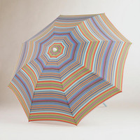 Multicolor Stripe Beach Umbrella | World Market