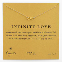 Women's Dogeared 'Reminder - Infinite Love' Boxed Pendant Necklace