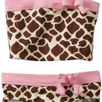 Pink Platinum Baby-Girls Infant Giraffe 2 Piece Swinsuit, Pink, 24 Months