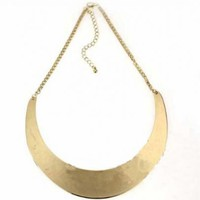 Gold Moon Mental Collar Chain Necklace - Sheinside.com