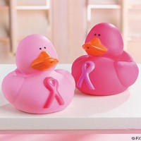 12 PINK RIBBON Rubber Ducks/BREAST CANCER AWARENESS/Duckies/FUND RAISING/Inspiration