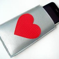 Vinyl Heart iPhone Cozy by yummypocket