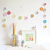 crochet penny garland Polly vintage inspired summer by emmalamb