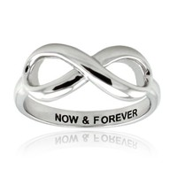 Sterling Silver Now & Forever Infinity Ring