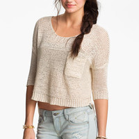 Painted Threads Crop Pocket Sweater (Juniors) | Nordstrom