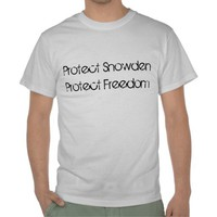 Protect Snowden Protect Freedom Tee Shirt from Zazzle.com