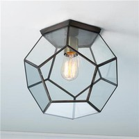 Clear Glass Prism Pentagon Ceiling Light - Shades of Light