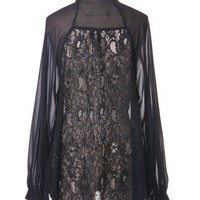 Ace of Lace Shirt in Noir - Tops - Retro, Indie and Unique Fashion