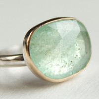 Columbian Emerald Ring in Recycled 14k Gold and by erinjanedesigns