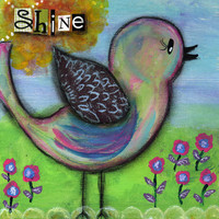Bird Original Painting Inspirational Shine Bird with by JillsDream