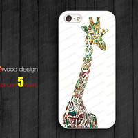 giraffe iphone case Hard case Rubber case iphone 4 case iphone 4s case New Iphone 5 case anchor graphic atwoodting design