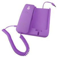 Pyle Home PIRTR60PUR Handheld Phone and Desktop Dock for iPhone - Desktop Charger - Retail Packaging - Purple