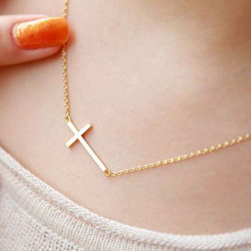 Beautiful Golden Cross Necklace