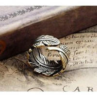 Vintage Adjustable Leaf Ring by WISHSTUFFS on Zibbet