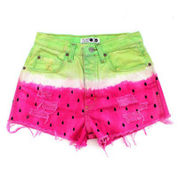 High waisted Watermelon shorts