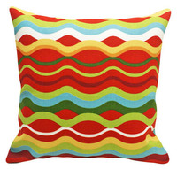 Brilliant Colorful Patio Pillows Inside or by PillowThrowDecor