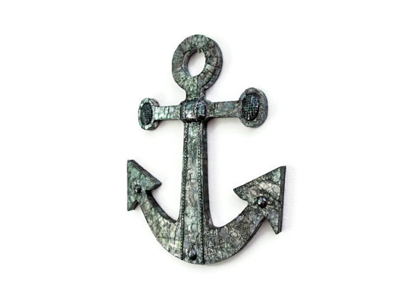 Anchor Wall Decor Metal : Anchor wall decor nautical hanging from fischerfinearts