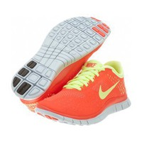 Nike Free Run 4.0 Women's Running Shoes Crimson/Lemon/Platinum 511527-630:Amazon:Shoes