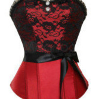 Red Sexy Beautiful Satin Womens Corset -  Milanoo.com