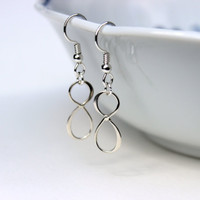Stelring Silver Infinity Earrings