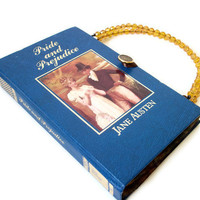 Jane Austen Book Purse Pride and Prejudice Book by retrograndma