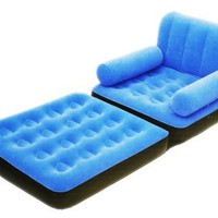Flocked Inflatable Sofa Chair:Amazon:Home & Kitchen