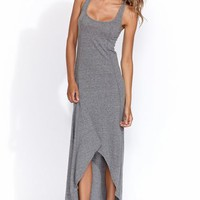 High low tank dress in heather grey -SOLD OUT