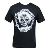 Marilyn Tattooed with Sugar Skull Mask by Josh Stebbins Menâ??s Black T Shirt