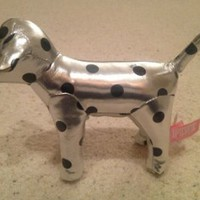 Victoria's Secret Pink Polka Dot Silver Mini Dog
