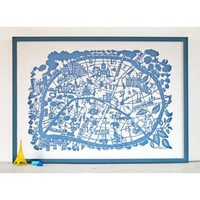 Famille Summerbelle Paris Map Print | Folly Home | Design-led Gifts, Home wares, Vintage Finds