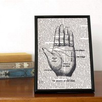 Palm Reading Chart Book Print | Folly Home | Design-led Gifts, Home wares, Vintage Finds