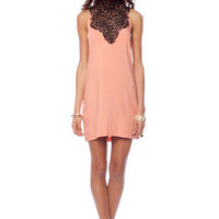 Tracy Lace Dress in Peach :: tobi