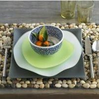 VivaTerra - Multi-Color River Stone Placemats