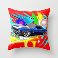 Camaro Throw Pillow by JT Digital Art