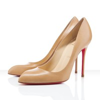 Christian Louboutin Lady Lynch 120mm Beige Shoes - &amp;#36;140.00