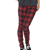 Plaid 5 Pocket Skinny Jean | Shop Jeans at Wet Seal