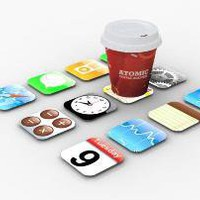 Coasters - iPhone Apps by dizingof on Shapeways