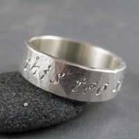 This too shall pass Ring in sterling silver | TwoSilverMoons - Jewelry on ArtFire