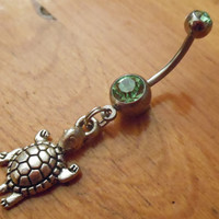 Belly button ring  Sea turtle belly button ring by ChelseaJewels