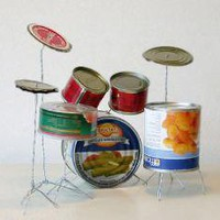 Tin Can Drum Kit » Funny, Bizarre, Amazing Pictures & Videos