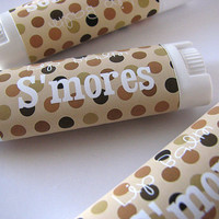 S'mores Flavor - Lip Balm - Natural - Vegan  - No sweeteners - Bath and Beauty  -Home and Living