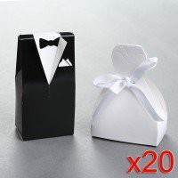40 Wedding Gift Favor Boxes - Bridal Gown Dress and Groom's Tuxedo:Amazon:Home & Kitchen