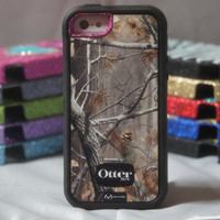 iPhone 5 Otterbox Case Custom Glitter Defender Series AP by 1WinR