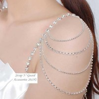 Chic & Sexy New Style Crystal Shoulder Pin Straps, Must-Have Ladies Jewelry Bra Clothing Pin Straps--Prevents Strapless Slippage, Perfect for Women Dress Gown; Wedding Dress, Prom Dress, Formal Dance, Holiday and Gift:Amazon:Beauty