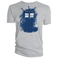Modern Art TARDIS T-Shirt - Heather,