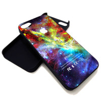 Galaxy Nebula With Apple Logo for iPhone 4 / 4s or iPhone 5 case, Black or White. ' Leave Note for Option '