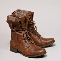 AEO Women's Lace-up Boot (Brown)
